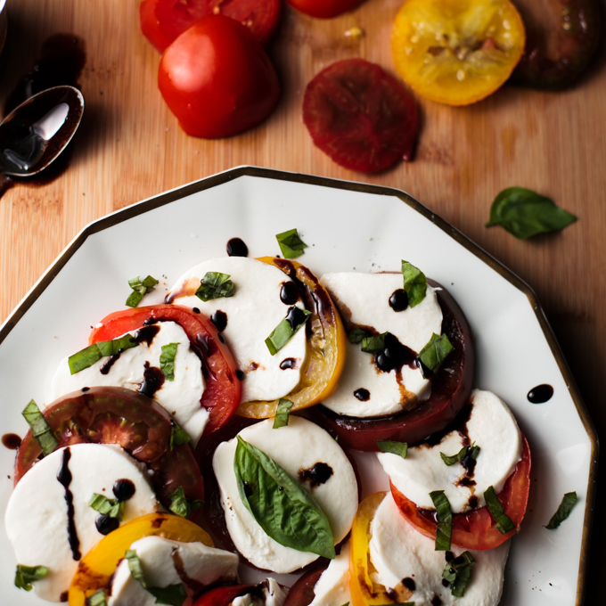 Caprese Salad with Honey Balsamic Reduction and some Mid-Week Inspiration