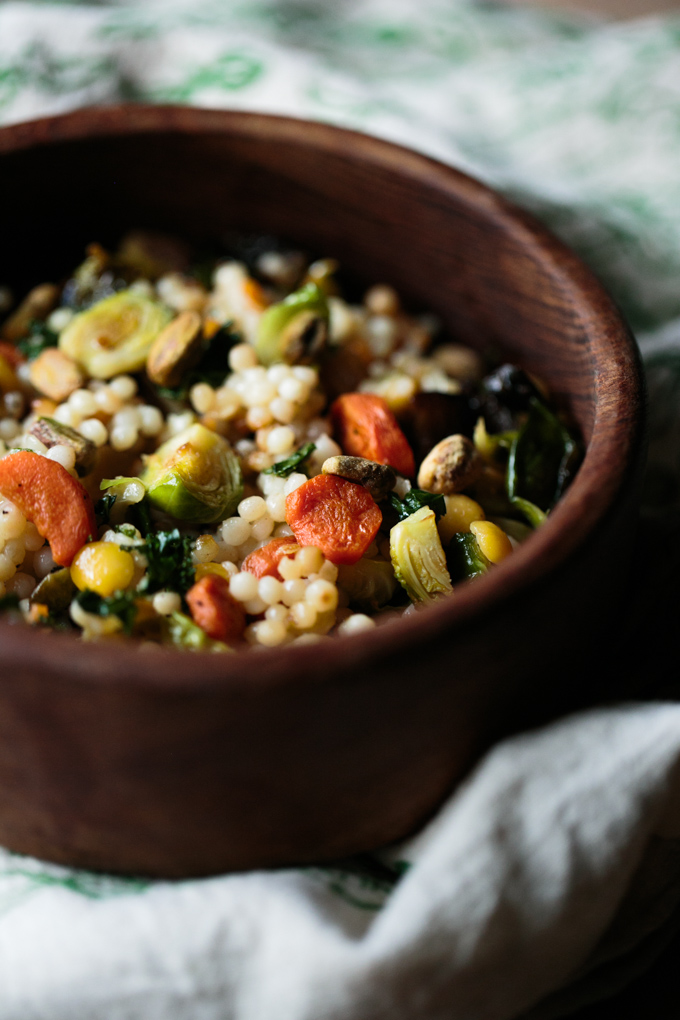 Roasted Winter Veggies and Israeli Cous Cous Bowl by thiswildseason.com -3