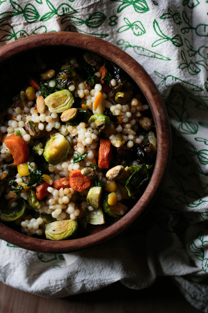 Roasted Winter Veggies and Israeli Cous Cous Bowl by thiswildseason.com -4