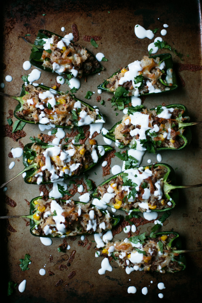 Stuffed Poblano Peppers with a Fresh Lime Crema by thiswildseason.com -2