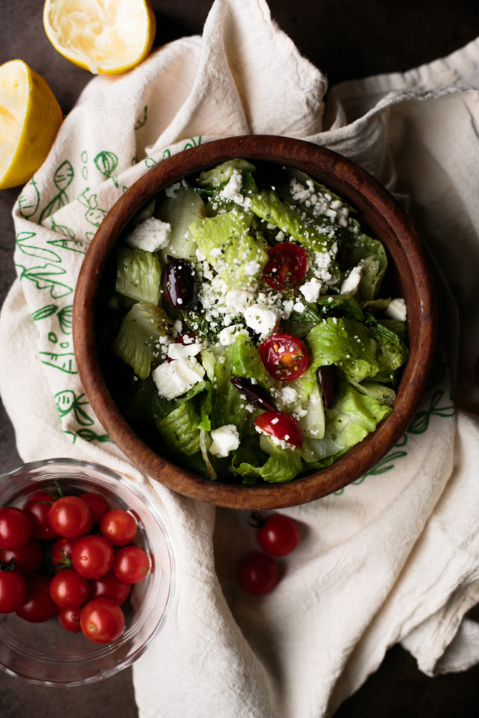 Chopped Greek Salad || thiswildseason.com -9