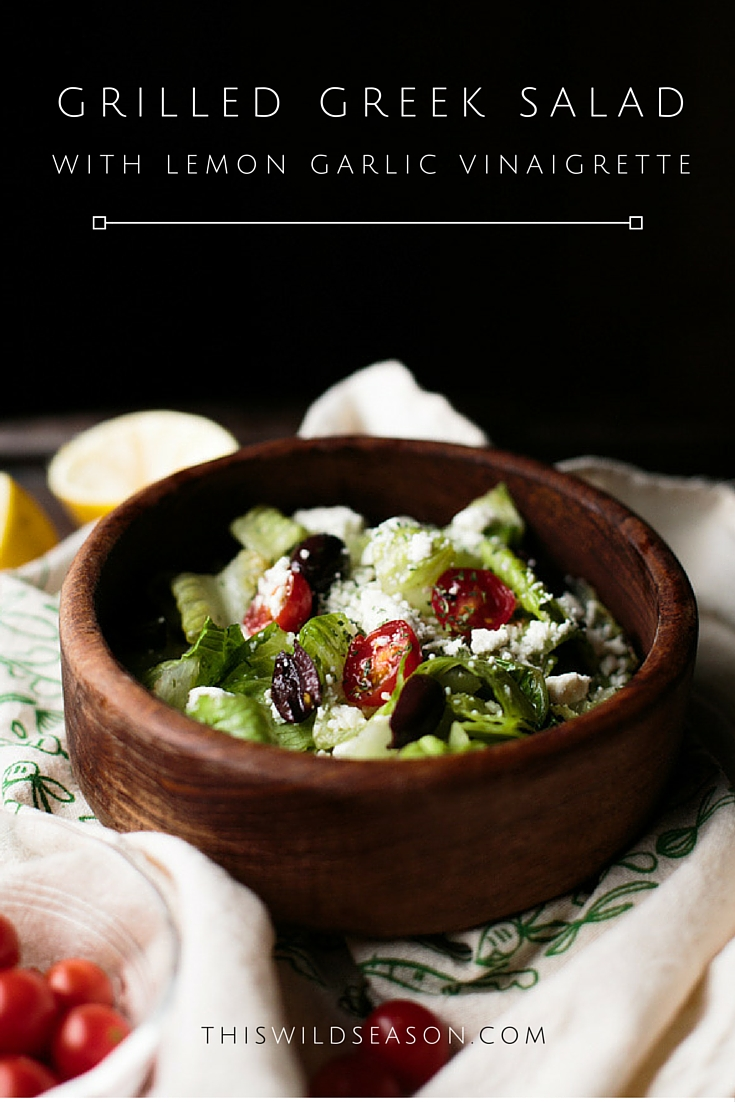 Grilled Greek Salad by thiswildseason.com