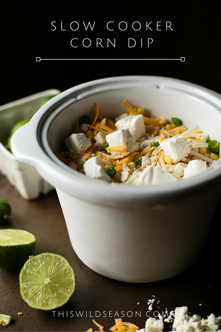 Slow Cooker Corn Dip by thiswildseason.com