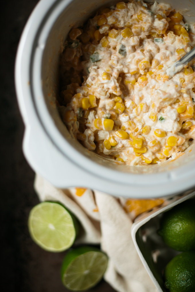 Slow Cooker Corn Dip || thiswildseason.com