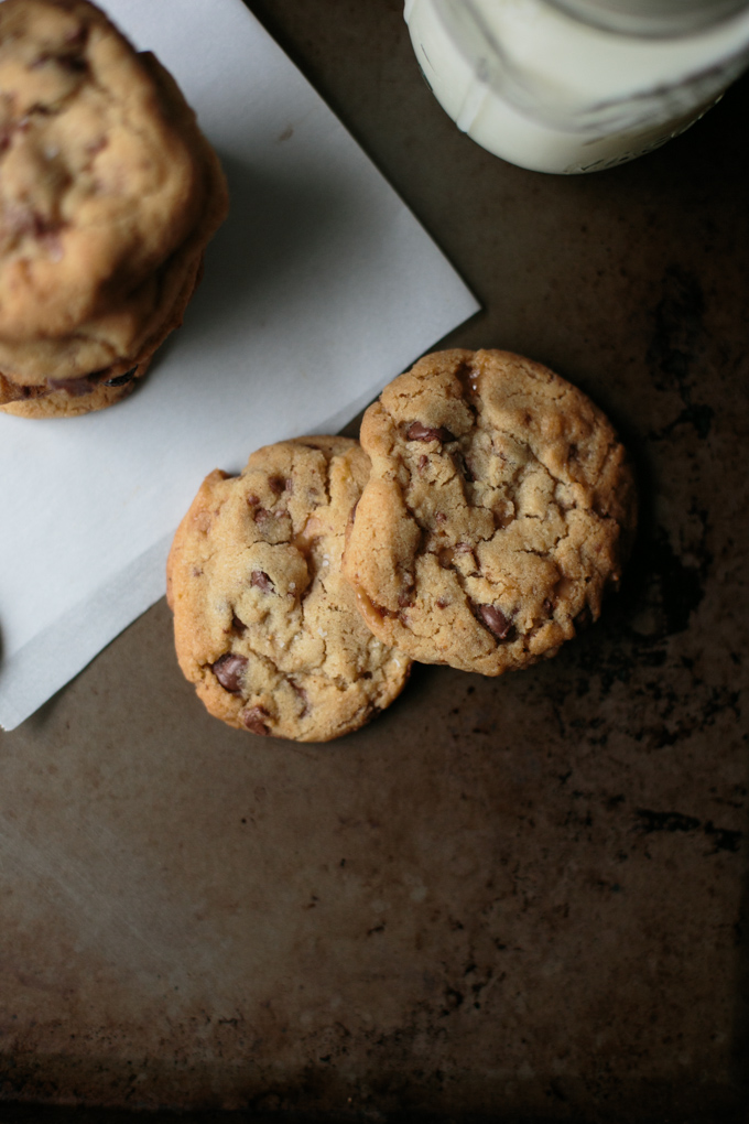Salted Brown Butter Heath Chip Cookies by thiswildseason.com -3