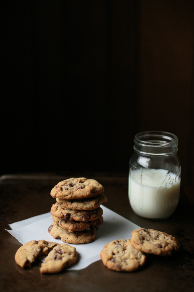 Salted Brown Butter Heath Chip Cookies by thiswildseason.com -5