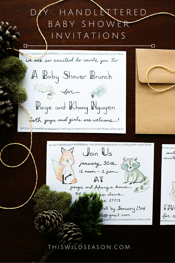 Diy handlettered woodland themed baby shower invitations diy handlettered woodland themed baby shower invitations by thiswildseason filmwisefo