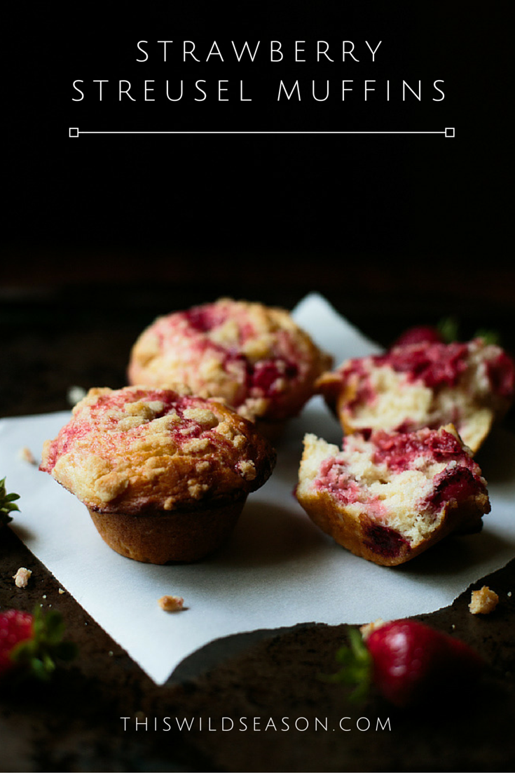 Strawberry Streusel Muffins by thiswildseason.com